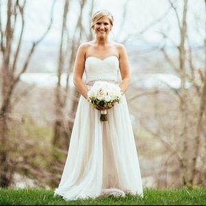 BHLDN Sweetheart Strapless Wedding Dress